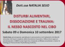 """Seminario – """"Trauma e alimentazione: il nesso nascosto nel cibo"""" con la Dott.ssa Natalia Seijo"""